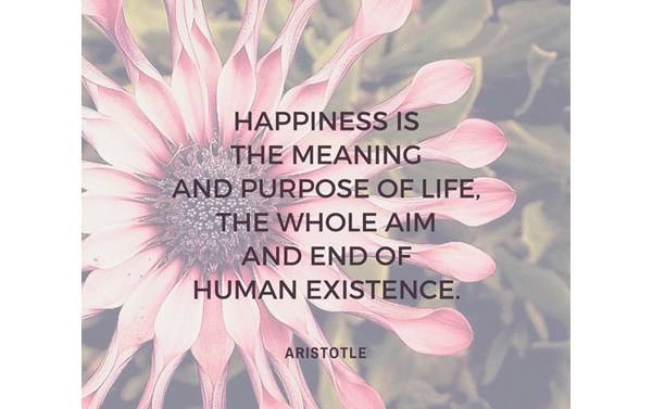 Happiness is the meaning of life