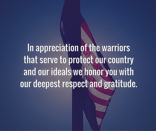 In Appreciation of the Warriors