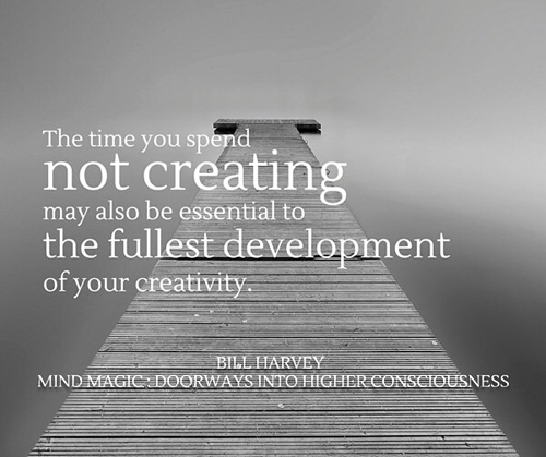 not creating may be essential to creativity