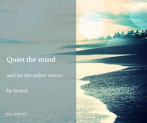 Quiet the mind - let the softer voices be heard